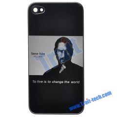 New Steve Jobs Battery Cover Housing Case for iPhone 4