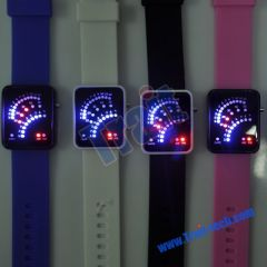 Comfortable Silicagel LED Wrist Watch