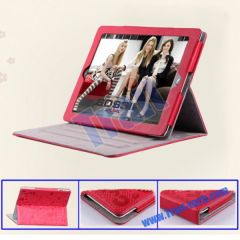 PU Leather Stand Case Magnetic Cover for iPad 2