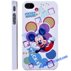 Newly Micky Pattern Skin Plastic Hard Case Cover for iPhone 4/ iPhone 4S