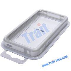 TPU Bumper Case for iPhone 4 (Grey + White)