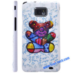 A Cute Bear Skin Plastic Hard Case Cover for Samsung Galaxy S2 i9100 Wholesale