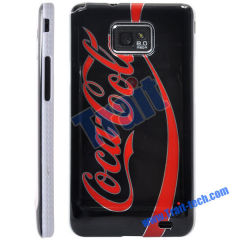 Famous Brand Skin Plastic Hard Case Cover for Samsung Galaxy S2 i9100 Wholesale(Black + red)