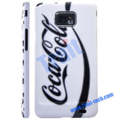 Famous Brand Skin Plastic Hard Case Cover for Samsung Galaxy S2 i9100 Wholesale(White + Black)