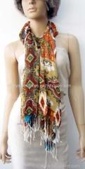 100% viscose mutti printed scarf