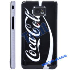 Famous Brand Skin Plastic Hard Case Cover for Samsung Galaxy S2 i9100 Wholesale(Black + White)