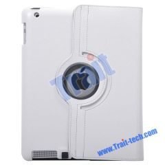 360 Degree Rotating Snakeskin Lines Stand Leather Case for iPad 2