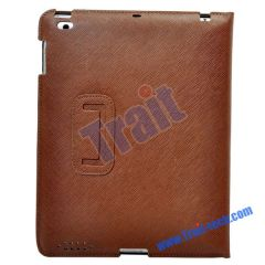 New Leather Stand Case for iPad 2 (Brown)