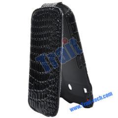 Wholesale BlackBerry Bold Leather Case, Crocodile Skin Leather Flip Case Cover for BlackBerry Bold 9900/ 9930(Black)