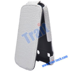 Wholesale BlackBerry Bold Leather Case, Crocodile Skin Leather Flip Case Cover for BlackBerry Bold 9900/ 9930(White)