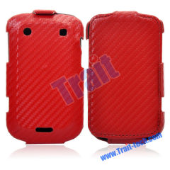 Wholesale BlackBerry Bold Leather Case, Woven Skin Leather Flip Case Cover for BlackBerry Bold 9900/ 9930(Red)