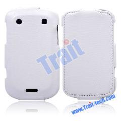 Wholesale BlackBerry Bold Leather Case, Snake Skin Leather Flip Case Cover for BlackBerry Bold 9900/ 9930(White)