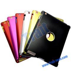 Hole Design Silicone + Aluminium Metal Hard Back Cover for iPad 2