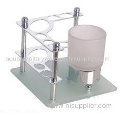 Table Toothbrush Holder & Toothpaste with single tumbler hol