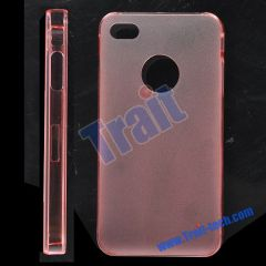 Frosted Hard Case for iPhone 4(Rose)