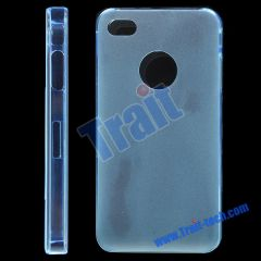 Frosted Hard Case for iPhone 4(Blue)