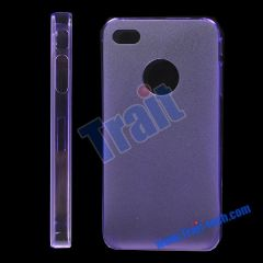 Frosted Hard Case for iPhone 4(Purple)