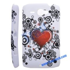 Heart Flower Hard Protective Case Cover for HTC ChaCha G16