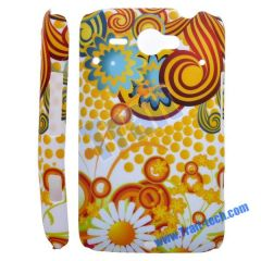 Flower Hard Protective Cover Case for HTC ChaCha G16