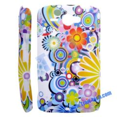Colorful Flower Hard Protective Case Cover for HTC ChaCha G16