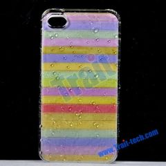 Colorful Water Drops Hard Protective Case for iPhone 4