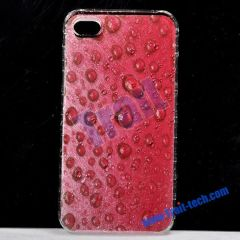 Red Water Drops Hard Case for Apple iPhone 4