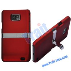 Red High Quality Hard Stand Case for Samsung i9100 Galaxy S2