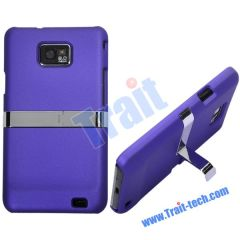 Purple High Quality Hard Stand Case for Samsung i9100 Galaxy S2