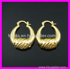 FJ 18k gold plated African earring 1210248 igp