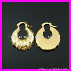 18k gold plated african earring FJ1210259