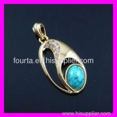 18 karat gold plated pendant
