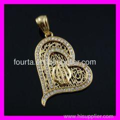 Gold plated muslem zircon pendant