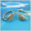 Gold earring 1220103