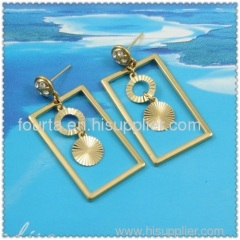 18k gold plated earring accept western Union payment 1220326