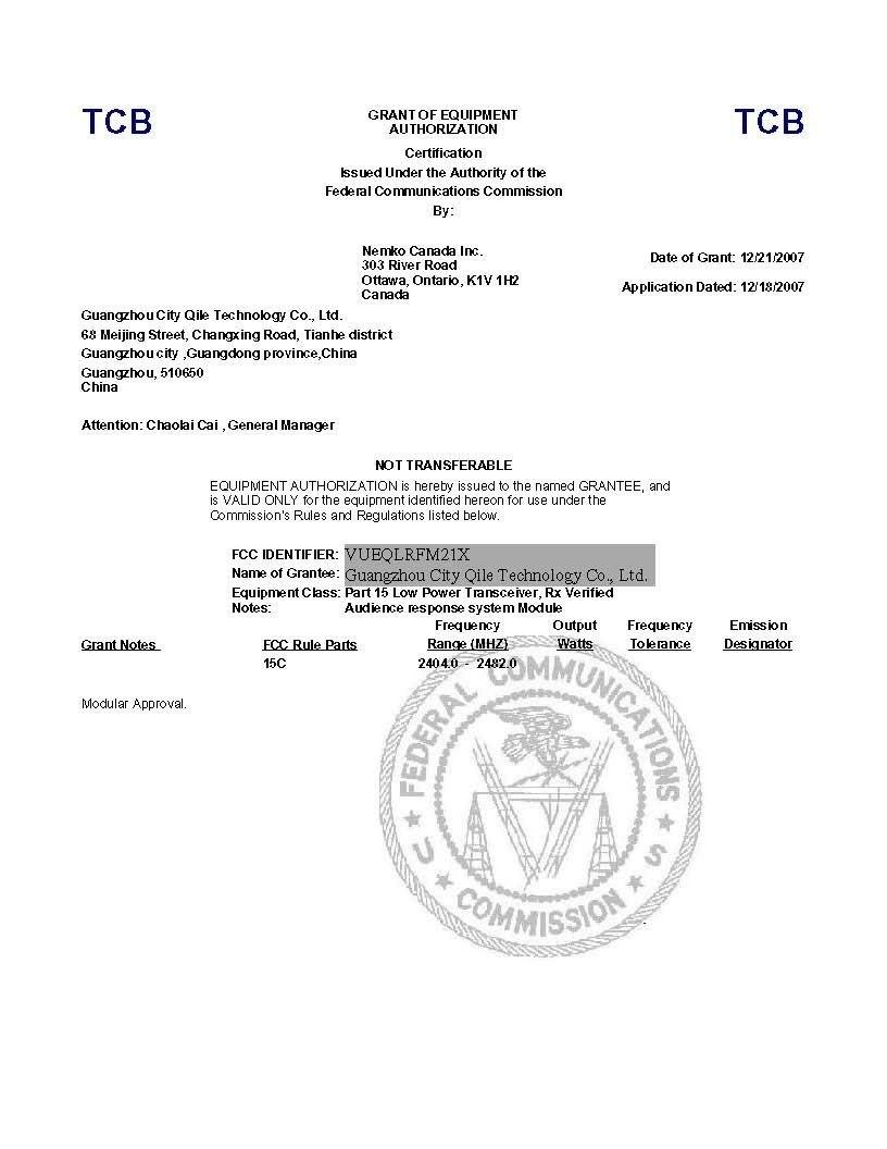 fcc certificate certificates
