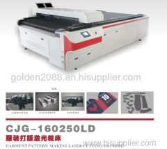china goldenlaser garment cardboard laser cutting machine
