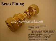 Brass union pipe fittings