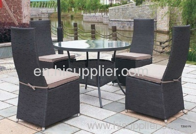 Outdoor furniture fabric table chair
