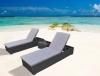 Garden furniture outdoor textile lounger