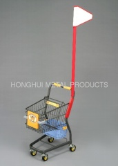 kid's small size shopping cart with flag