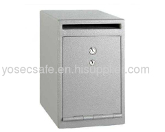 under-counter cash deposit safe with UL dual nose key lock