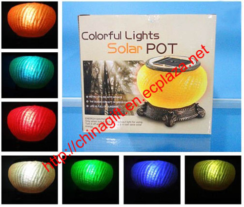 Colorful Light Solar Pot
