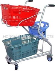Hand Basket Shopping cart with baby seat