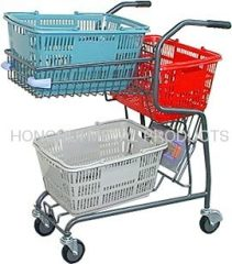 shopping cart for hand basket