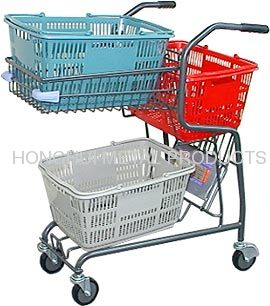 shopping cart for hand basket
