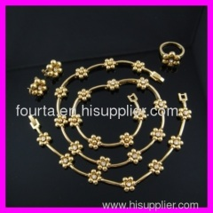 18k classical jewelry set