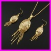Indian Gold Plated Jewelry Set 1120342