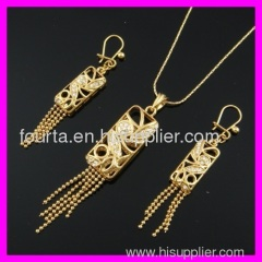 hot 18k gold plated set