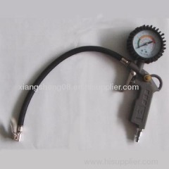 aluminum tire inflating gun with tire gauge