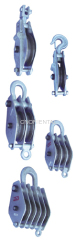 Steel service snatch pulley blocks hook/ round / clevis type optional